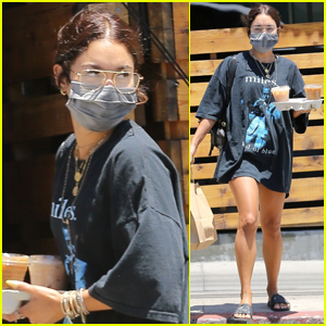 Vanessa Hudgens Heads Out on Coffee Run in L.A.