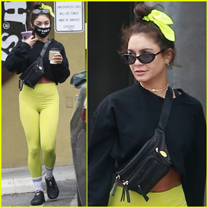 Vanessa Hudgens Heads to the Juice Bar Following Her Workout