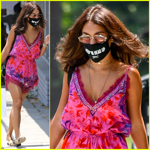 Vanessa Hudgens Is Ready for Summer in Her Cute Pink Romper!