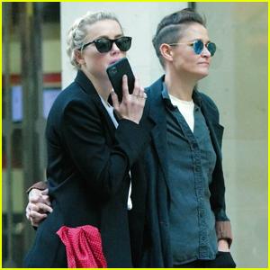 Amber Heard & Girlfriend Bianca Butti Hold Hands While Shopping in London