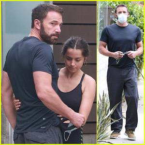 Ben Affleck Embraces Ana de Armas While Arriving Home from a Dog Walk