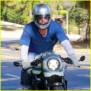 Brad Pitt Heads to Visit Angelina Jolie & Kids on His Motorcycle