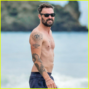 Brian Austin Green Shows Off His Shirtless Physique at the Beach in Malibu