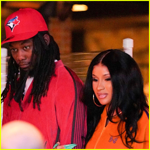 Cardi B & Offset Sport Coordinating Tracksuits for Date Night in Santa Monica