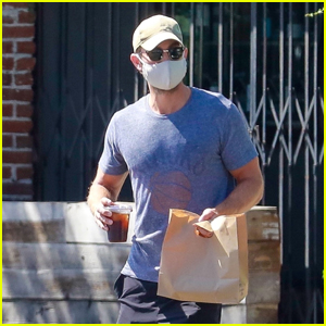 Chace Crawford Wears a Mask While Grabbing His Lunch to Go in LA