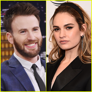 Chris Evans & Lily James Photographed Together During Night Out