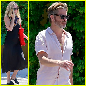 Chris Pine Stops By a Medical Building with Girlfriend Annabelle Wallis