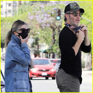 Chris Pine & Girlfriend Annabelle Wallis Head Out on Coffee Run in L.A.