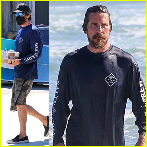 Christian Bale Spends Another Afternoon at the Beach in Malibu