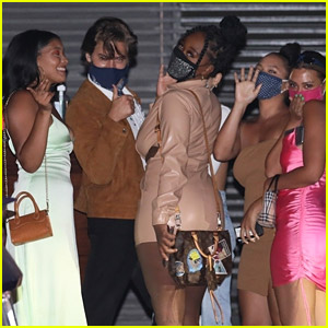 Cole Sprouse Is Surrounded By Ladies After Dinner at Nobu!