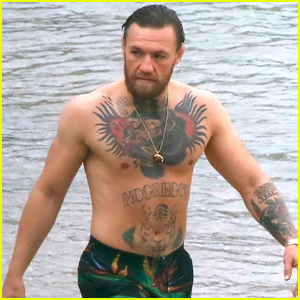 Conor McGregor Bares His Tattoos While Going Shirtless on Vacation!
