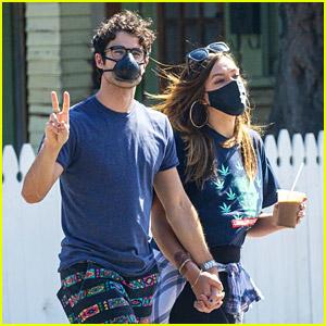 Glee's Darren Criss & Wife Mia Hold Hands On a Coffee Run