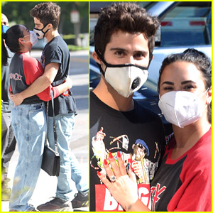Demi Lovato Shows Off Engagement Ring, Flaunts PDA with Fiance Max Ehrich While Shopping!