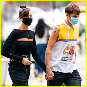 Dua Lipa Holds Hands With Anwar Hadid After Going Back To Brunette in NYC