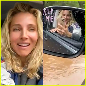 Elsa Pataky Escapes Through Car Window After Getting Stuck in Flood (Video)