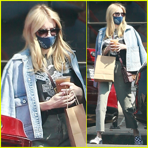 Emma Roberts Conceals Baby Bump on Coffee Run