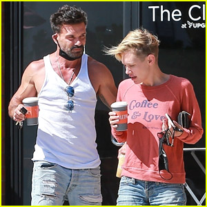 Kingdom's Frank Grillo Meets Up with Nicky Whelan for Coffee