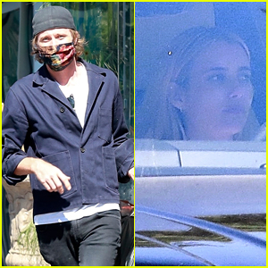 Garrett Hedlund Picks Up Food To Go While Pregnant Emma Roberts Stays in the Car