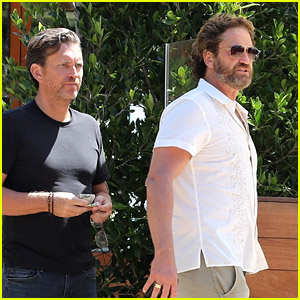 Gerard Butler Steps Out for Lunch with a Friend in Malibu