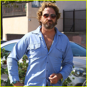 Gerard Butler Looks Cool While Meeting Up with a Friend