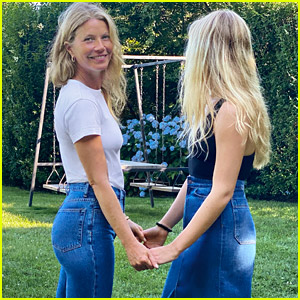 Gwyneth Paltrow's Daughter Apple Joins Her to Model Goop's New G. Label Collection!