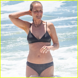 Helen Hunt Takes a Dip in a Bikini at the Beach in Malibu