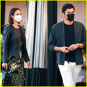 Henry Golding & Wife Liv Lo Wear Their Masks for a Dinner Date