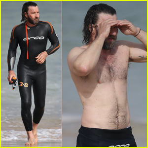 Joel Edgerton Slips Into Tight Wetsuit for Dip in The Ocean!