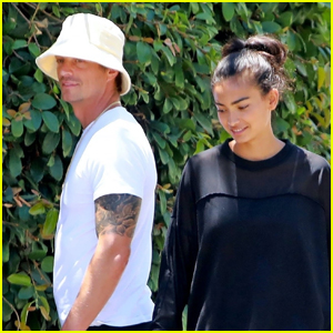 Joel Kinnaman & Girlfriend Kelly Gale Take Their Dog for a Walk