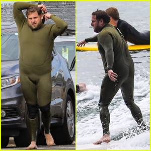 Jonah Hill Gets In an Early Morning Surf Session in His Wetsuit