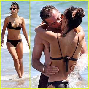 Jordana Brewster Makes Out With New Boyfriend Mason Mortif at the Beach