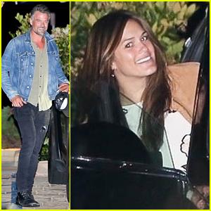 Josh Duhamel & Girlfriend Audra Mari Get Dinner at Nobu