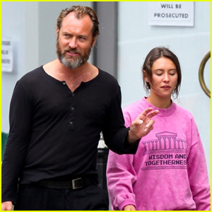 Jude Law Hangs Out with Daughter Iris After Captain Hook Casting News