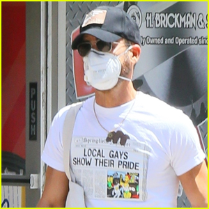 Justin Theroux Wears 'Local Gays Show Their Pride' Shirt While Out in NYC