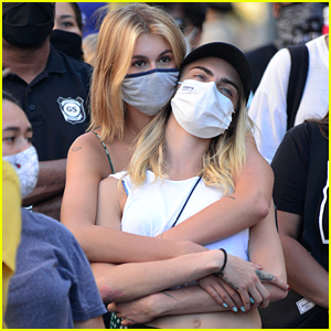 Kaia Gerber & Cara Delevingne Embrace at Black Lives Matter Protest