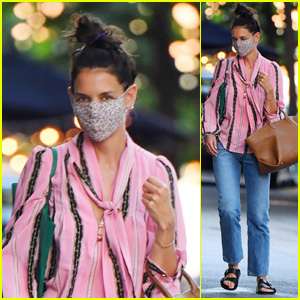 Katie Holmes Is Pretty in Pink While Stepping Out in New York City