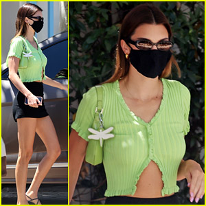 Kendall Jenner Gets Lunch in a Cute Green Crop Top - Get It Now for Just $45!