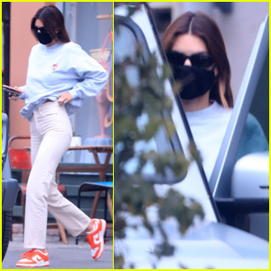 Kendall Jenner Steps Out in WeHo Amid Brother-in-Law Kanye West's Twitter Outburst