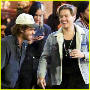 KJ Apa Enjoys a Night Out with Dylan Sprouse & Friends!