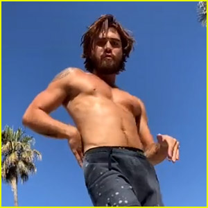 People Can't Stop Watching KJ Apa's Shirtless Dance Video on TikTok!