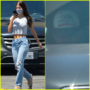 Leonardo DiCaprio & Girlfriend Camila Morrone Drop Off a Guitar