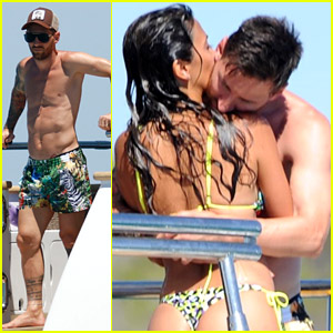 Soccer Star Lionel Messi Flaunts PDA with Wife Antonela Roccuzzo on a Yacht in Spain!
