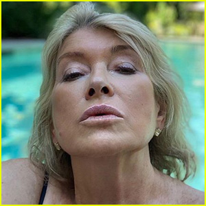 Martha Stewart Poses for a Selfie in the Pool