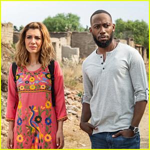 The Stars Of Netflix S Desperados Have Played A Couple Before Lamorne Morris Nasim Pedrad Netflix Just Jared