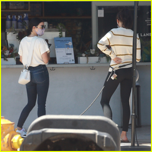 Nina Dobrev & Lucy Hale Run Into Each Other While Grabbing Juice in LA