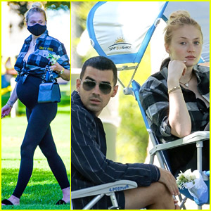 Pregnant Sophie Turner Lounges at the Park with Joe Jonas & His Family