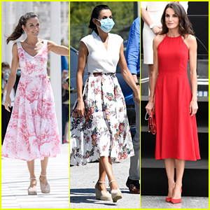 Spanish Queen Letizia Shows Off Summer Style While During Royal Tour