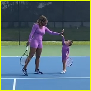 Serena Williams Adorably Plays Tennis With 2-Year-Old Daughter Alexis Olympia