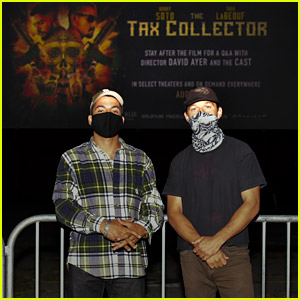 Shia LaBeouf Attends a Drive-In Screening of 'The Tax Collector' with Co-Star Bobby Soto!