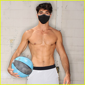 The Kissing Booth 2's Taylor Zakhar Perez Goes Shirtless While Modeling the Only Mask He'll Ever Use!